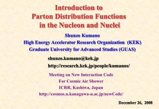 Introduction to  Parton Distribution Functions  in the Nucleon and Nuclei