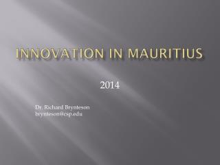 Innovation in  mauritius