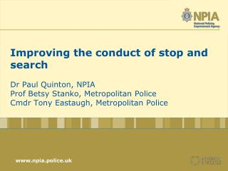 Improving stop and search?