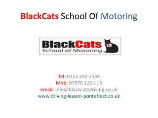 BlackCats School Of Motoring-Intensive Driving Course