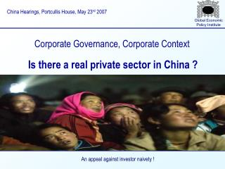 Corporate Governance, Corporate Context