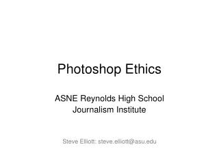 Photoshop Ethics