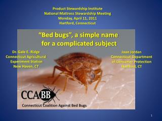 Product Stewardship Institute National Mattress Stewardship Meeting Monday, April 11, 2011