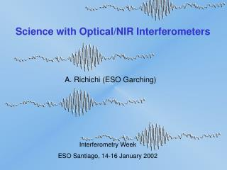 Science with Optical/NIR Interferometers