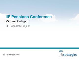 IIF Pensions Conference