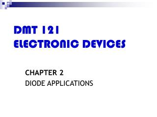 DMT 121 ELECTRONIC DEVICES