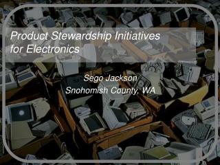 Product Stewardship Initiatives for Electronics
