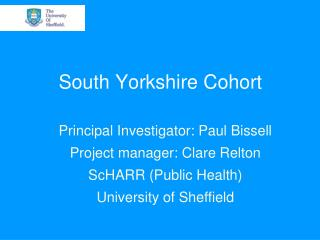 South Yorkshire Cohort
