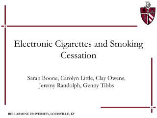 Electronic Cigarettes and Smoking Cessation