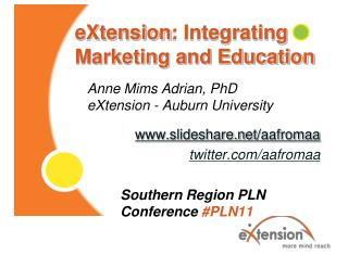 eXtension : Integrating Marketing and Education