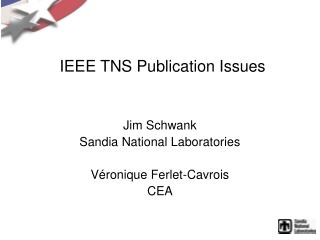 IEEE TNS Publication Issues