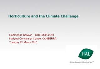 Horticulture and the Climate Challenge