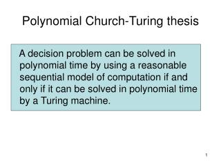 Polynomial Church-Turing thesis
