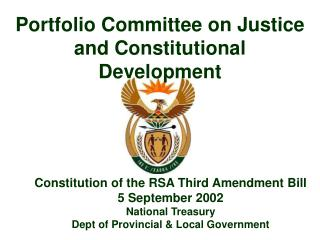 Portfolio Committee on Justice and Constitutional Development