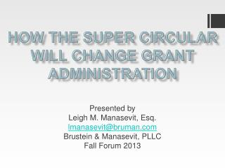 How the Super Circular Will Change Grant Administration