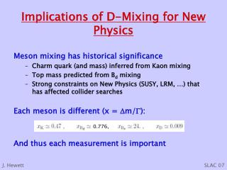 Implications of D-Mixing for New Physics