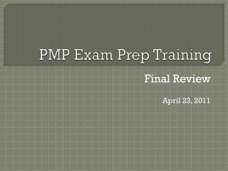 PMP Exam Prep Training