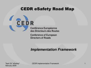 CEDR eSafety Road Map