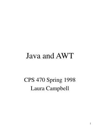 Java and AWT
