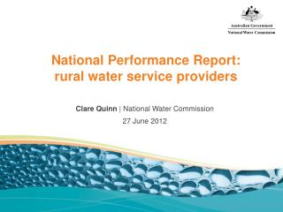 National Performance Report: rural water service providers
