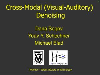 Cross-Modal (Visual-Auditory)  Denoising