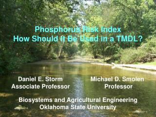 Phosphorus Risk Index How Should It Be Used in a TMDL?