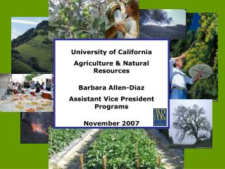 University of California Agriculture & Natural Resources Barbara Allen-Diaz