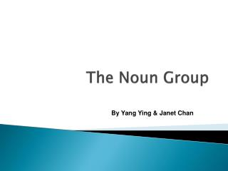 The Noun Group