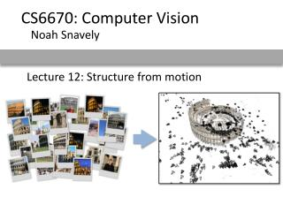 Lecture 12: Structure from motion