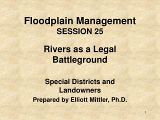 Floodplain Management SESSION 25