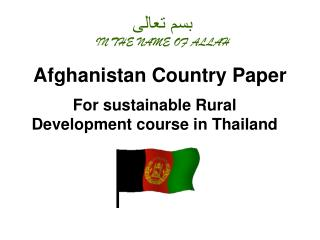 Afghanistan Country Paper