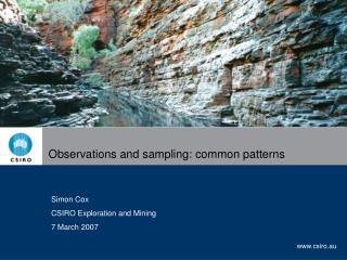 Observations and sampling: common patterns