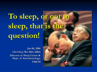 To sleep, or not to sleep, that is the question!