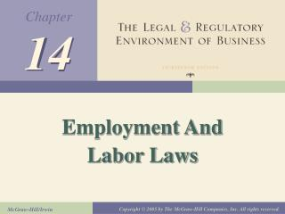 Employment And Labor Laws