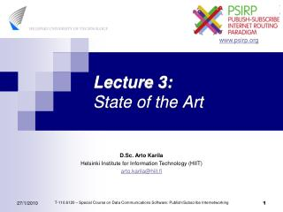 Lecture 3: State of the Art