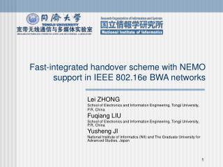 Fast-integrated handover scheme with NEMO support in IEEE 802.16e BWA networks