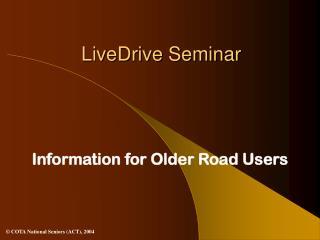 LiveDrive Seminar