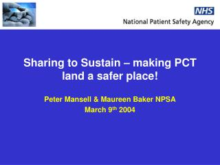 Sharing to Sustain – making PCT land a safer place!