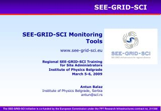 SEE-GRID-SCI Monitoring Tools
