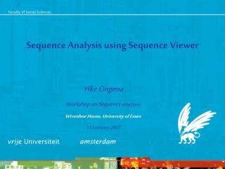 Sequence Analysis using Sequence Viewer