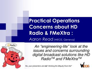 Practical Operations Concerns about HD Radio & FMeXtra : Aaron Read  (WEOS, Geneva)