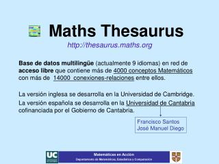 Maths Thesaurus thesaurus.maths