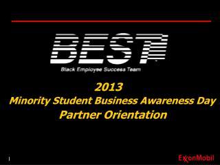 2013 Minority Student Business Awareness Day