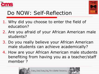 Do NOW: Self-Reflection