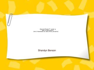 Shandyn Benson