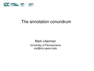 The annotation conundrum