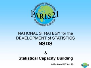 NATIONAL STRATEGY for the DEVELOPMENT of STATISTICS NSDS