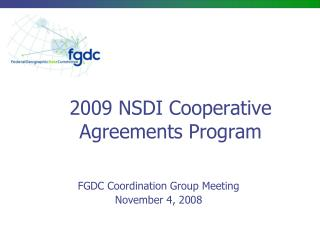 2009 NSDI Cooperative Agreements Program