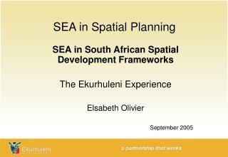 SEA in Spatial Planning