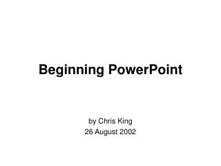 Beginning PowerPoint